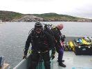 BSAC Divers prepare for a deep dive.