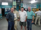 From left to right, Palmer Sargent, Terry Dwyer and Dave Clancy in the Wreck Hunter Museum in Dingwall.