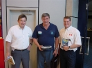 Guest speakers; Terry Dwyer, Robert Marx and Sam Millett at the 2002 BSAC Dive Show in London, England.