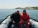 Sam Millett and Terry Dwyer after a dive on the LETITIA