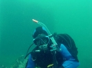 Suzie Dwyer diving the wreck of the MONTARA in Gooseberry Cove, Cape Breton