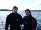 The Wreck Hunter and the Wreck Huntress in Liscomb prior to a scallop dive.