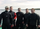 Blair Christian, Doug Carmichael, Terry Dwyer, Sam Millett and Derek King after a dive on the shipwreck