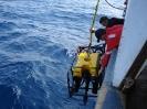 Deploying the Phantom ROV 150 miles off the coast of Newfoundland