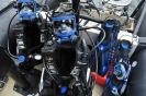 Our dive gear set up at the stern of our Zodiac and ready to use.