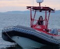 The Wreck Huntress (Suzie Dwyer) at the helm of the