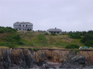The Governor's House and the Officer in Charge residence in Atlantic Cove